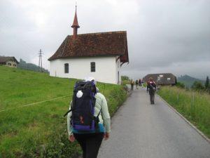 Pilgerin auf dem Weg