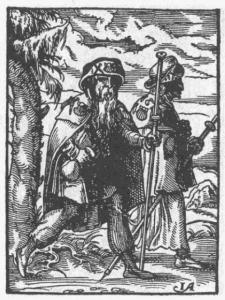 Ausrüstung eines Pilgers dargestellt 1568