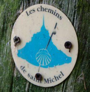 Wegzeichen Mont-Saint-Michel