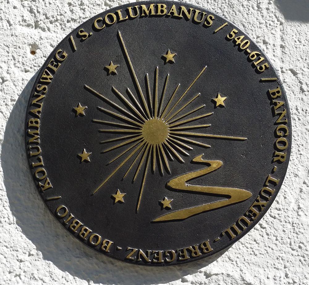 Plakette Kolumban-Weg