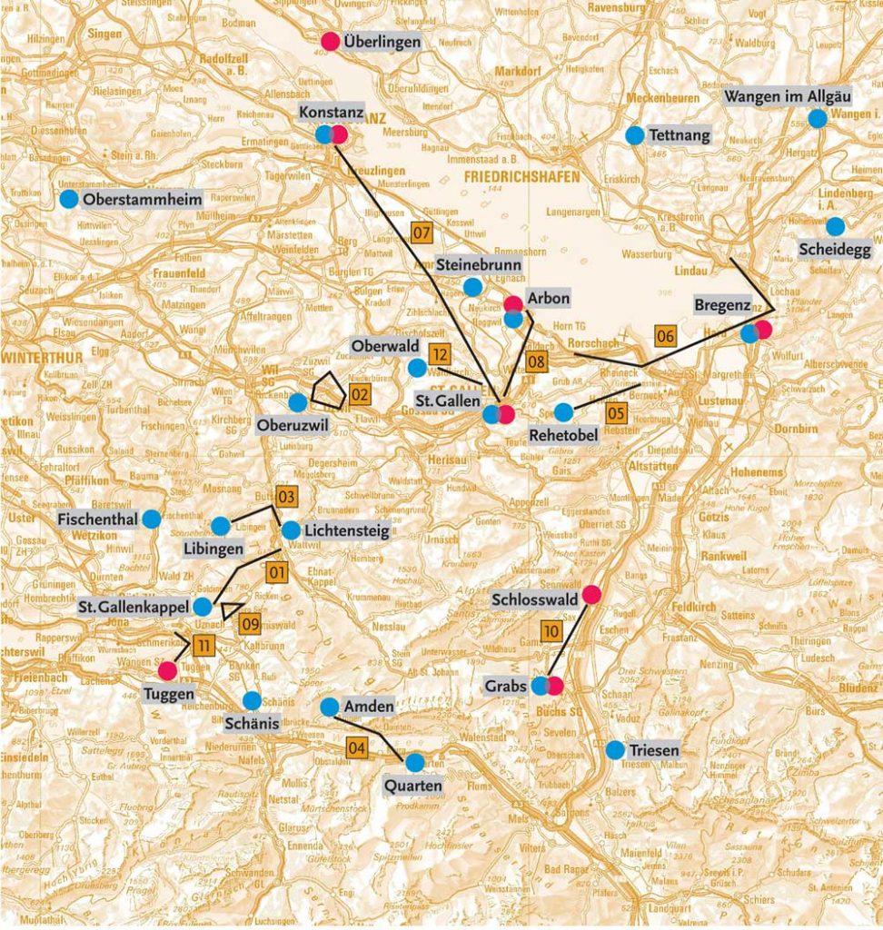 Gallus-Pilgern Karte