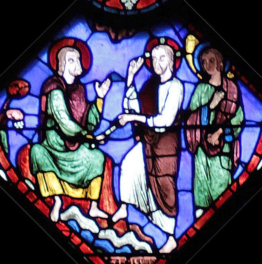 Jesus überreicht den Stab an Jakobus