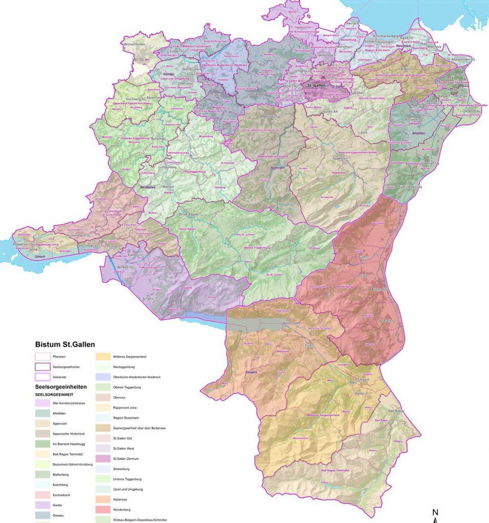 Seelsorgeeinheiten Bistum St. Gallen